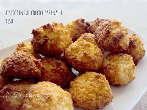 Biscotti al cocco e farina di riso
