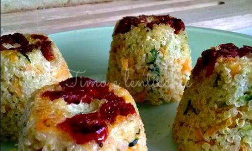 Tortini di quinoa ai pomodorini secchi
