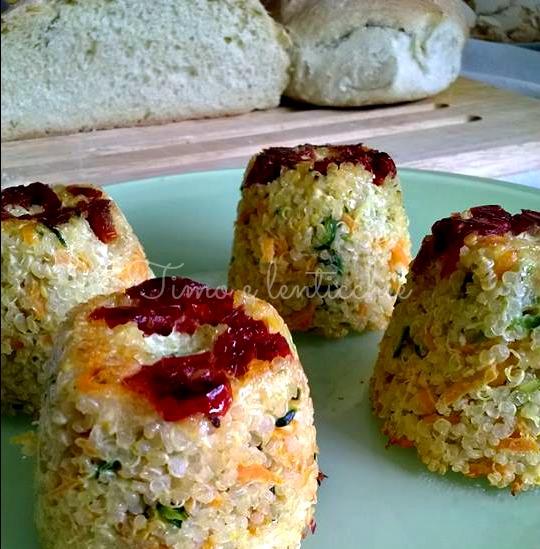 Sformatini di quinoa