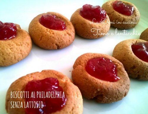 Biscotti  al philadelphia senza lattosio