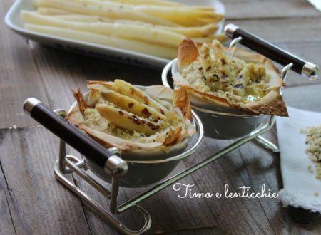 Cocotte di asparagi di Bassano e tofu