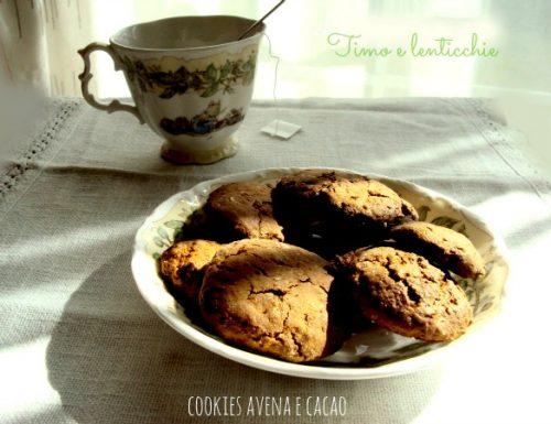 Cookies avena e cacao