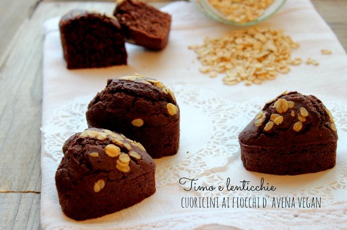 Muffin ai fiocchi d'avena vegan