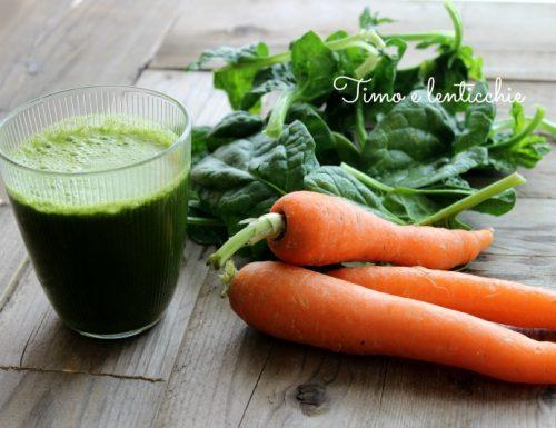 Estratto 61 carote e spinaci – perchè fa bene