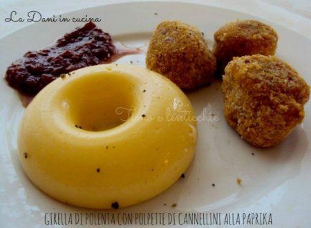 Girelle di polenta con polpette di cannellini