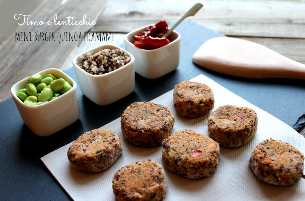 mini burger quinoa edamame