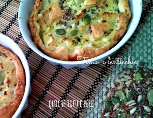 Mini quiches tofu e pera