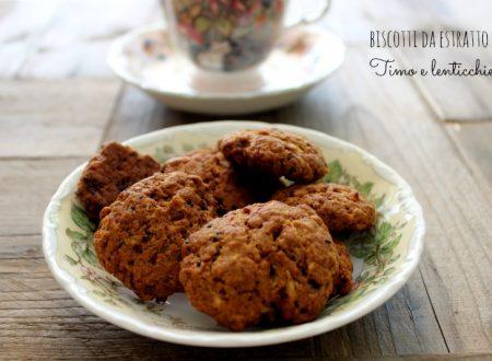 Biscotti con lo scarto dell'estratto