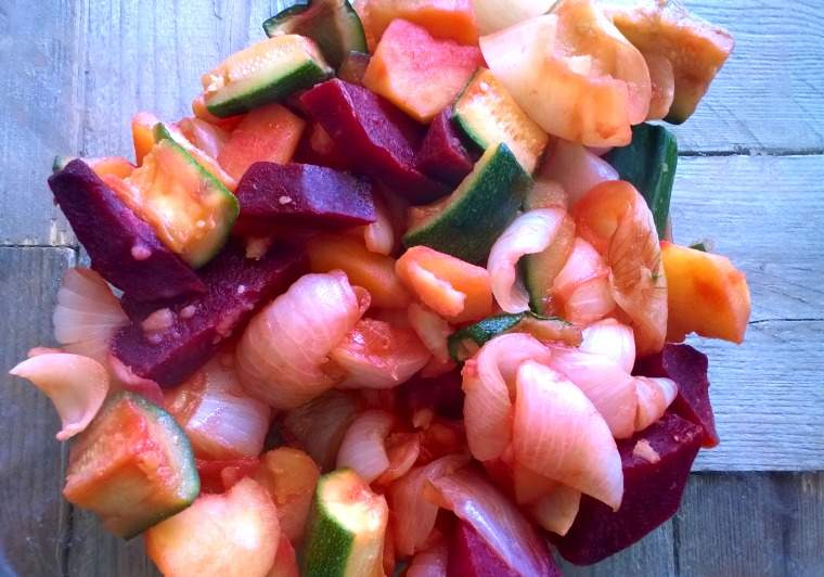 macedonia di verdura al vapore