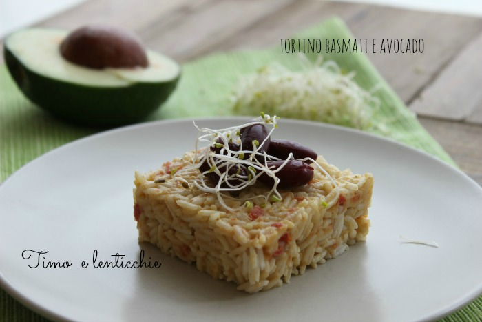 tortino basmati e avocado