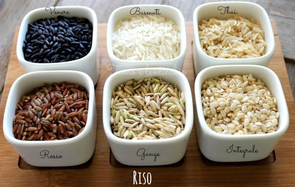 varie qualità di riso