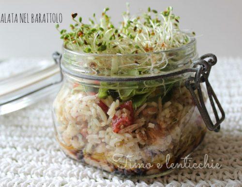 Vegan insalata in barattolo