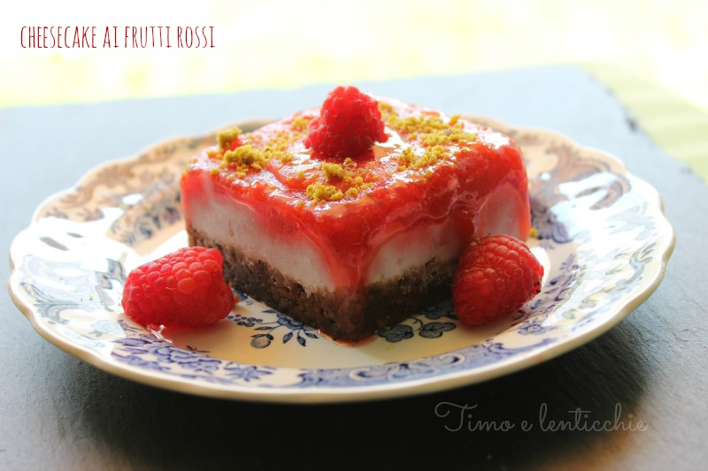 Mini cheesecake ai frutti rossi
