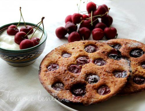 Pancakes alle ciliegie vegan