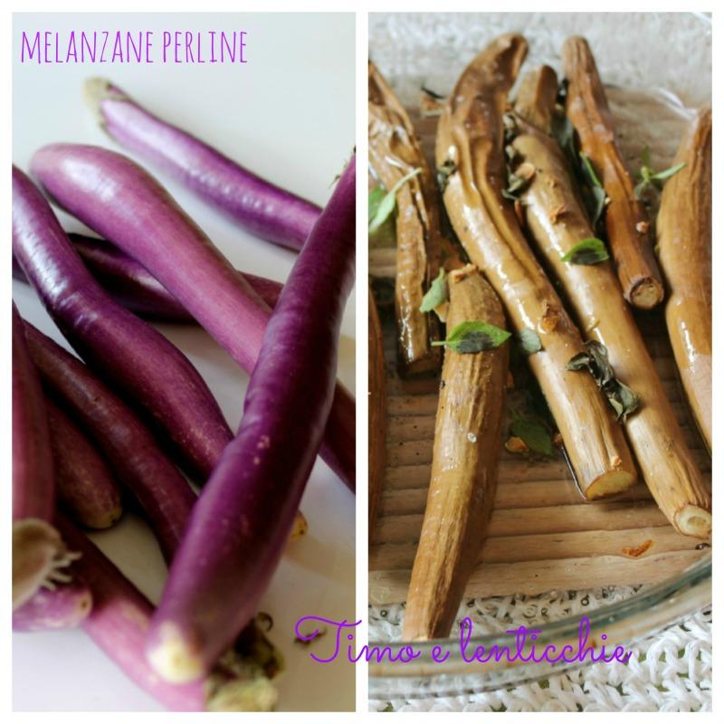 Melanzane perlina al forno timo e lenticchie for Melanzane innestate