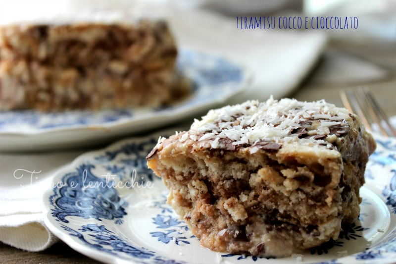 Tiramisu al cocco e cioccolato | Timo e lenticchie