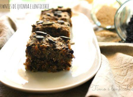 Brownie alla quinoa e lenticchie beluga