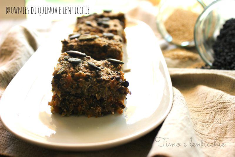 brownies di quinoa e lenticchie