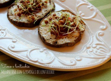 Melanzane con germogli di lenticchie