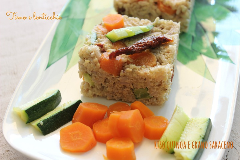riso quinoa a e grano saraceno