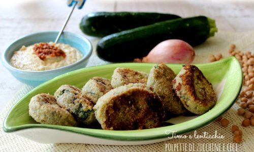 Polpette di zucchine e ceci