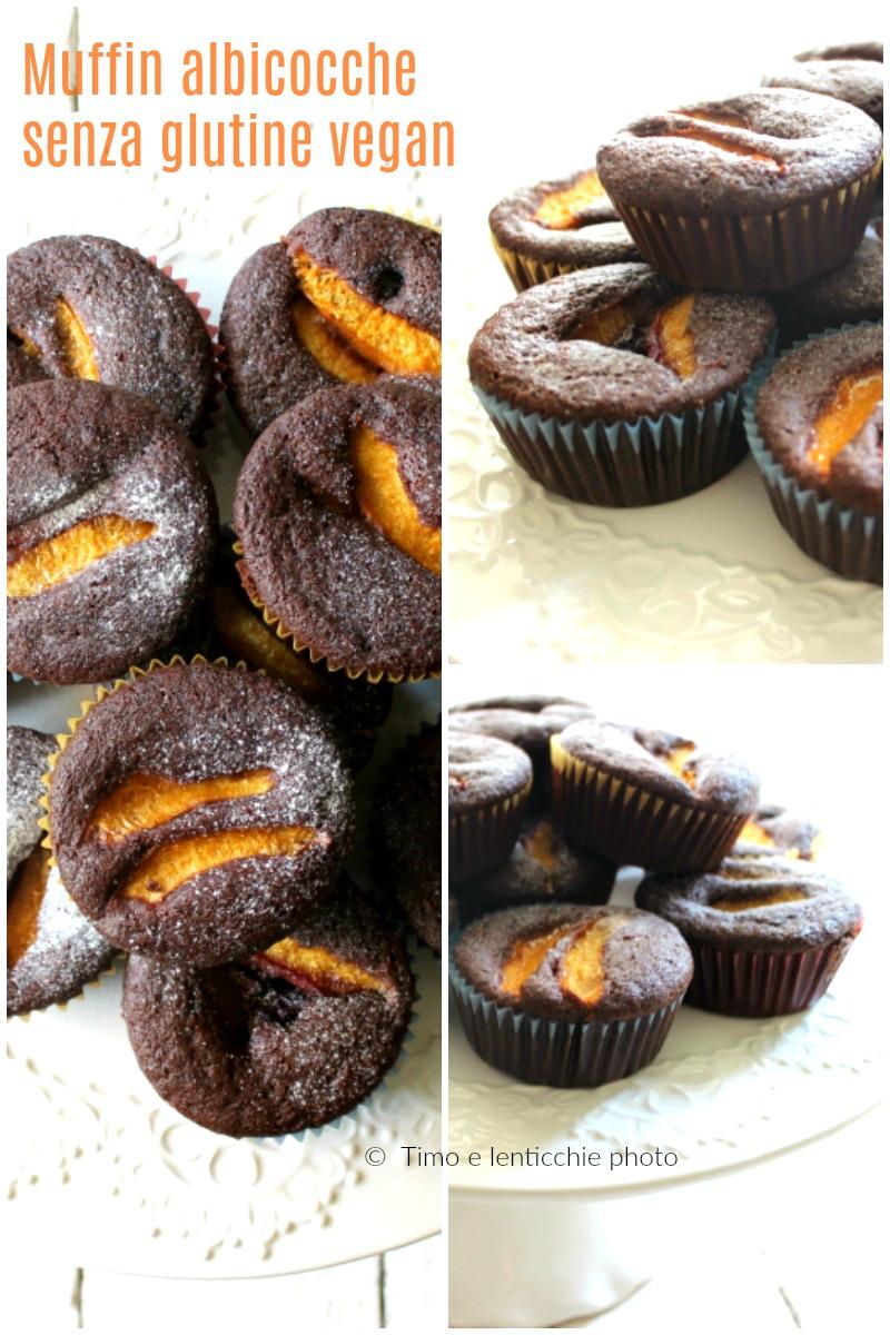 Muffin cacao e albicocche vegan