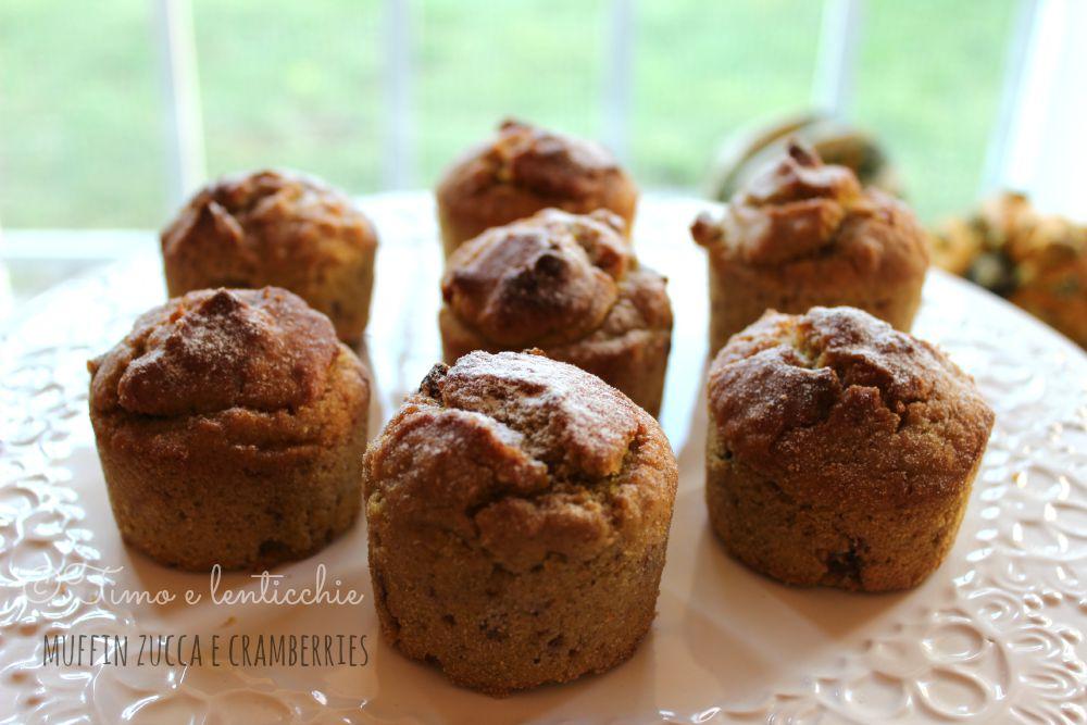 Muffin zucca e cranberries