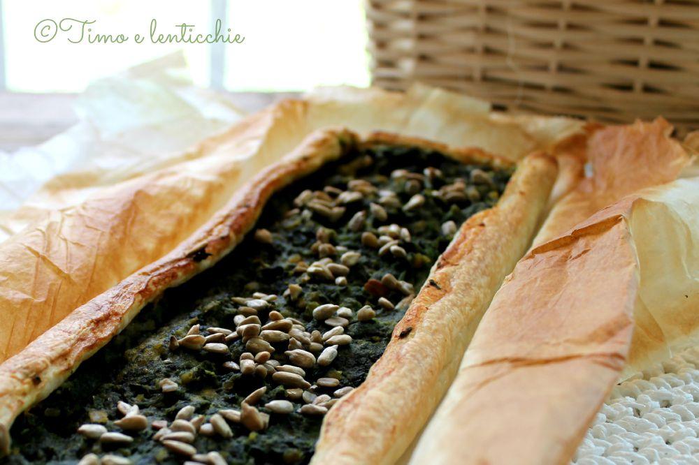 torta spinaci e lenticchie