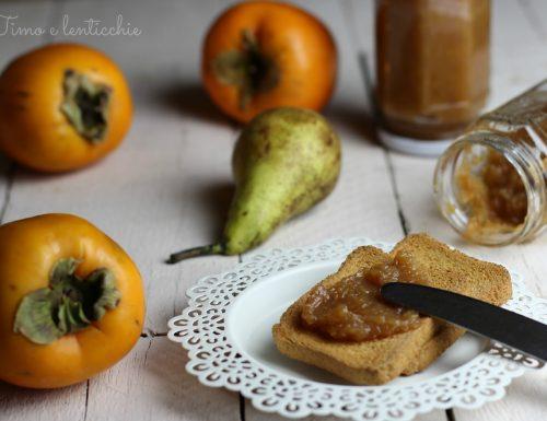 Marmellata di pere e kaki mela