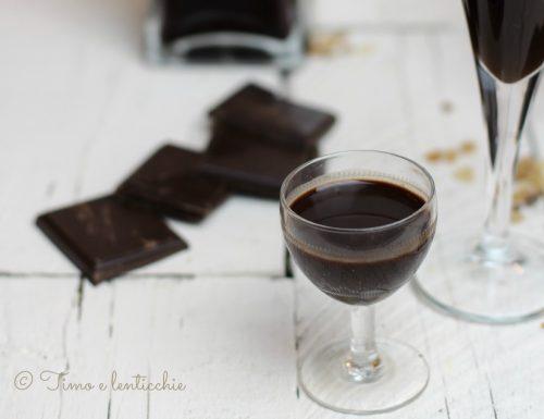 Liquore al cioccolato senza latte leggero