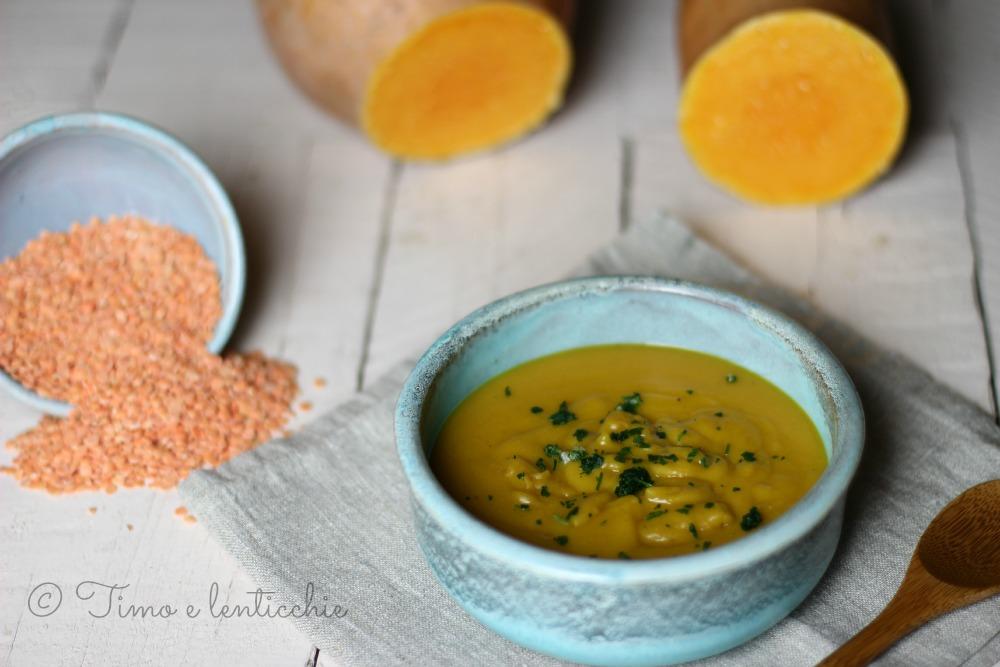 velluatata di lenticchie rosse e zucca 1