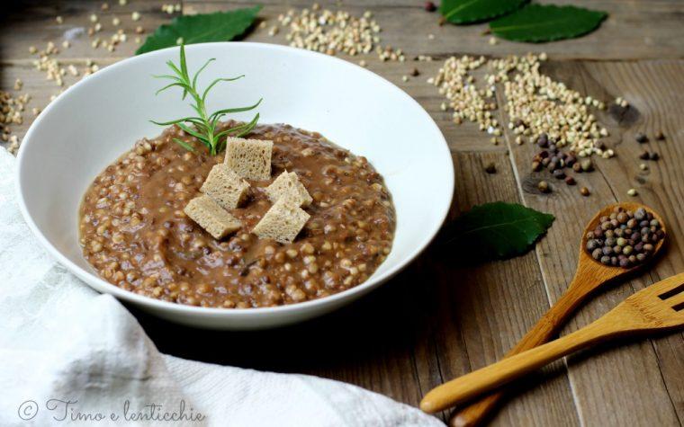 Zuppa di roveja e grano saraceno