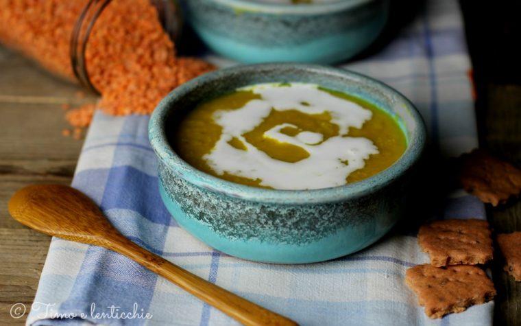 Zuppa di lenticchie rosse e latte di cocco