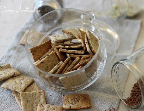 Crackers ai semi con esubero di pasta madre