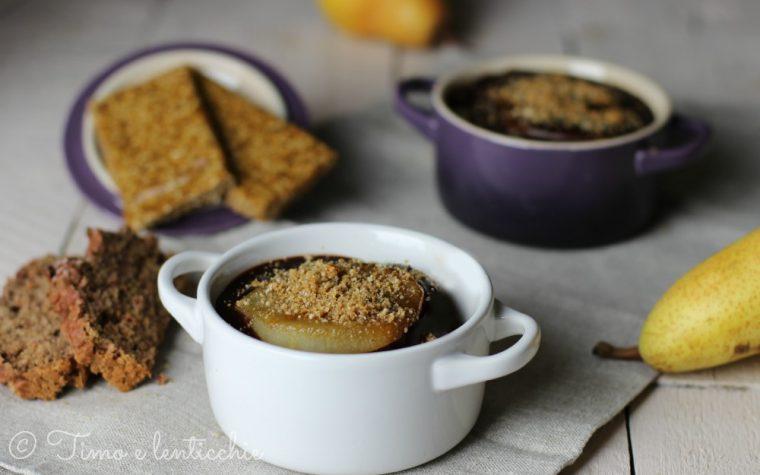 Crumble alle pere e cioccolato gluten free