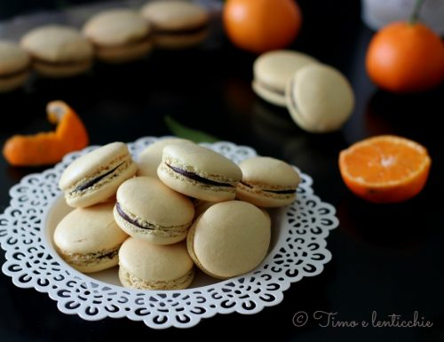 Macaron clementine e cioccolato