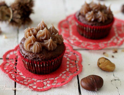 Muffin alle castagne e cioccolato