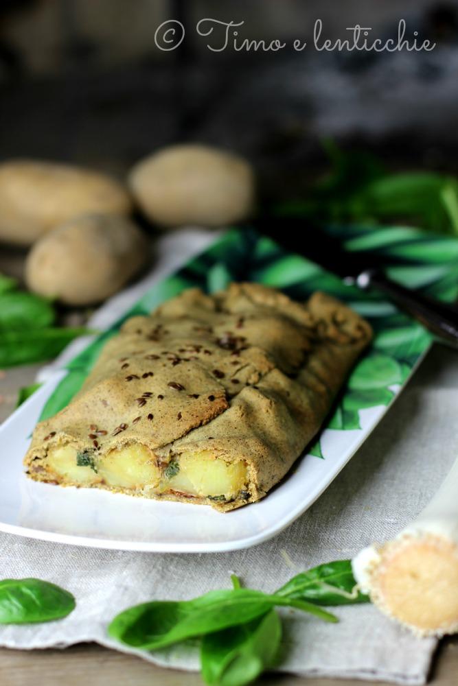 Strudel di patate di Rotzo alla farina di canapa