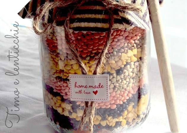 Lenticchiata in barattolo lents in a jar