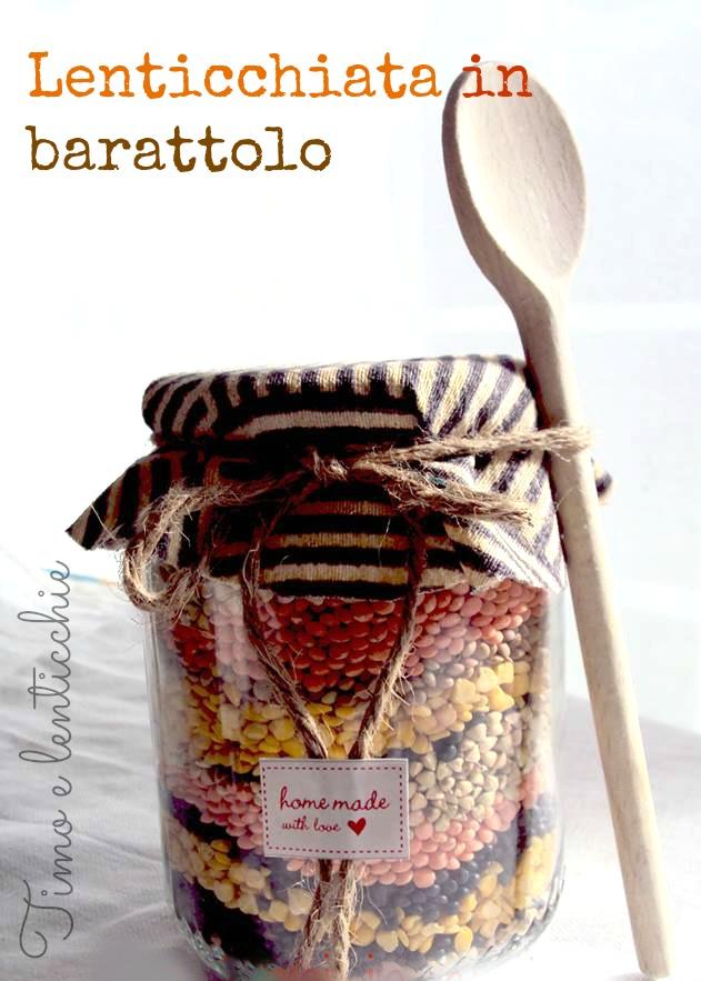 lenticchie in barattolo da regalo