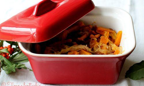 Zucca in saor ricetta veneta con cipolla