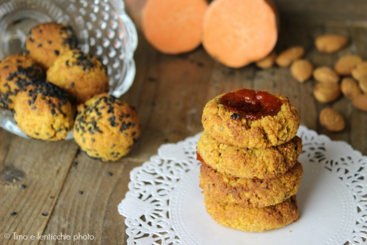 Biscotti di mandorle e batata