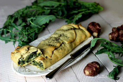 Strudel al broccolo fiolaro e topinambur