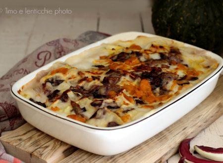 Lasagne al forno con radicchio di Treviso e zucca