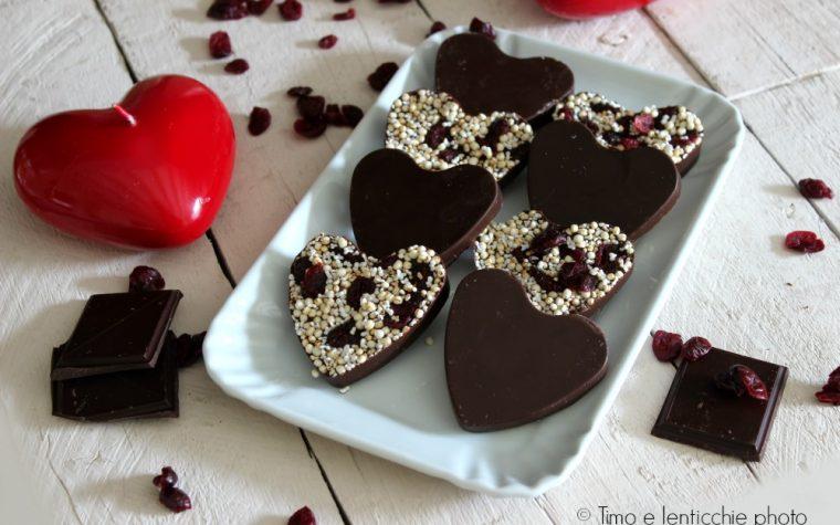 Cuoricini golosi cioccolato e quinoa gluten free