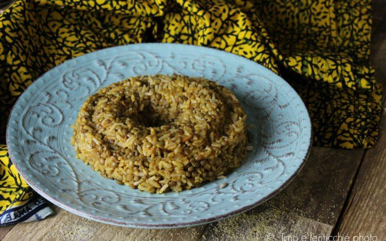 Ciambella di riso e lenticchie al curry