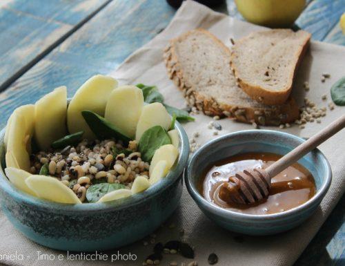 Insalatina al miele di Manuka legumi e mele