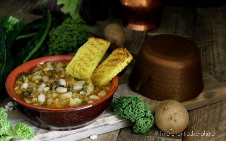 Ribollita zuppa toscana della salute