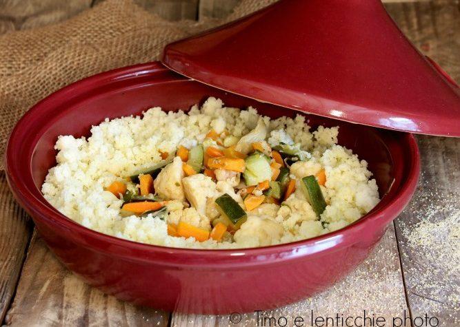 Cous cous di riso e verdure in tajine