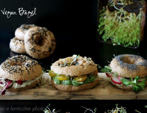 Vegan bagel panini bolliti a ciambella